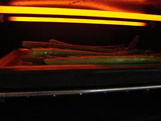 Asparagus under broiler