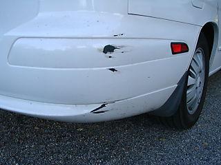 Scraped bumper