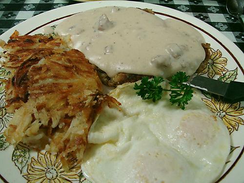 Chicken Fried Steak andeggs