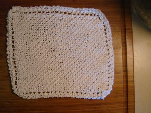Knit dish cloth
