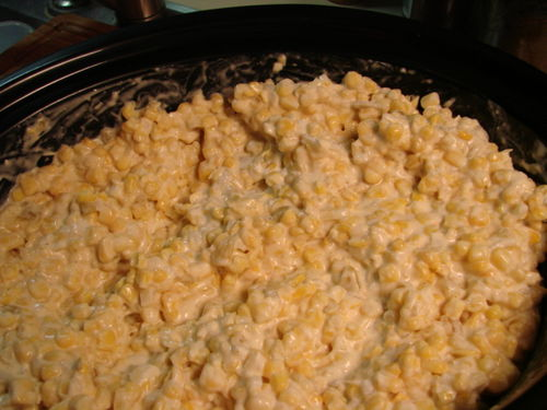 Corn Casserole crockpot ready