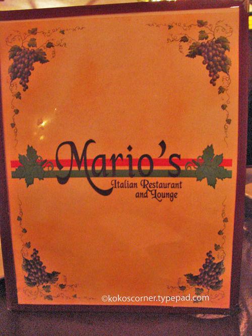 Mario's menu copy