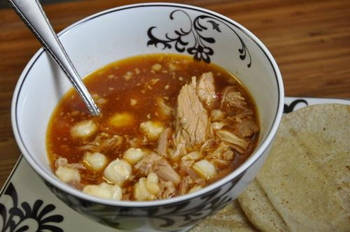 Posole 23 served close up