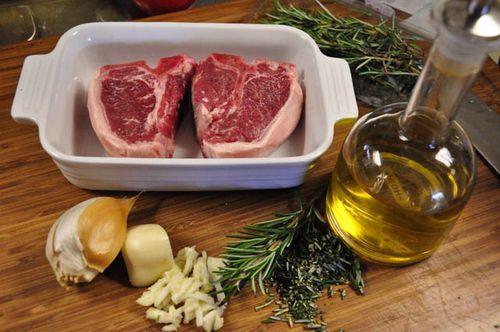 Lamb chops assemble ingred