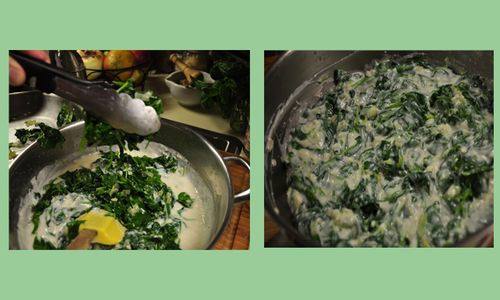Creamed spinach montage four copy