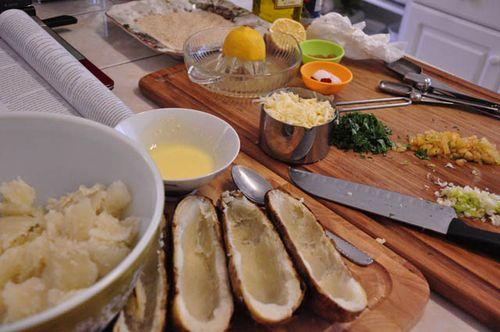 Stuffed potatoes scoop shells