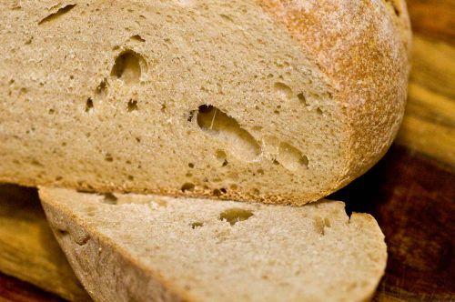 Artisan bread inside
