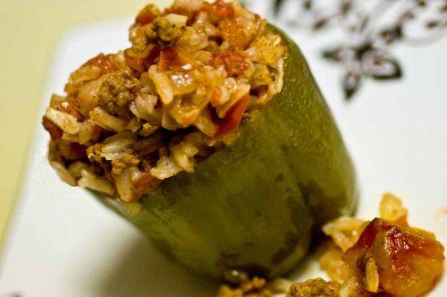 Stuffed pepper plated