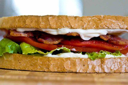 BLTe finished blt sandwich