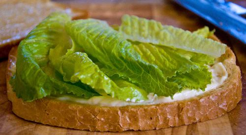 BLTa mayo and lettuce