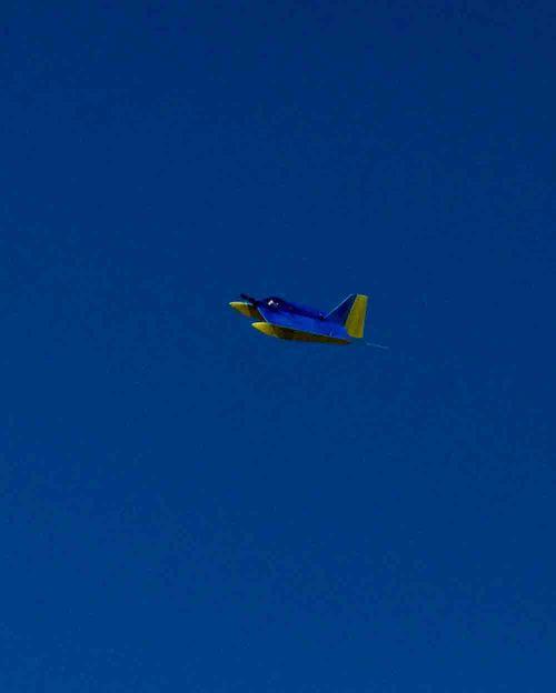 New plane in wild blue yonder