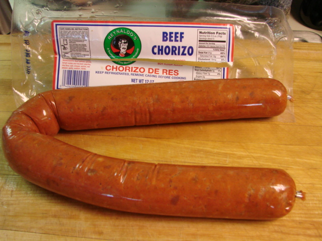 chorizo is nice and dark